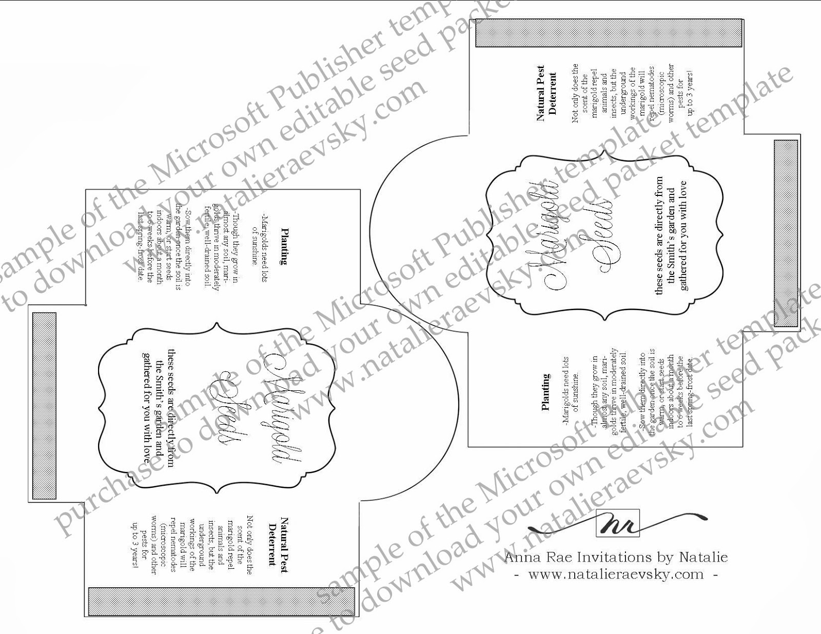 Fine seed packet templates festooning example resume and for Blank seed packet template