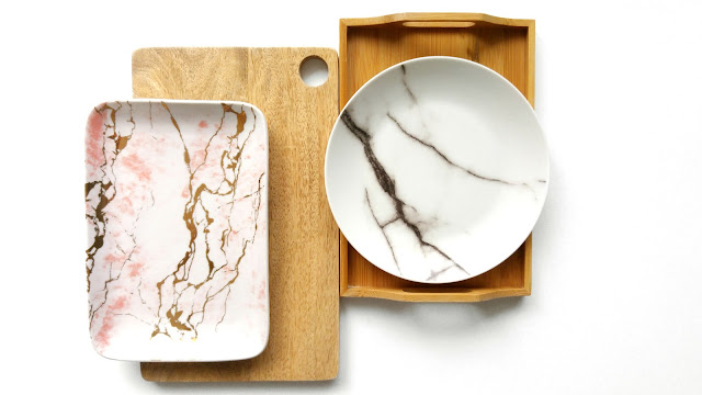 Props For Flatlays, Wooden Boards For Flatlays, Marble Plates For Flatlays