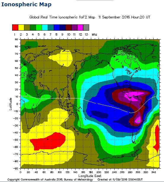Earthquake Prediction: Tonight's Ionospheric Map