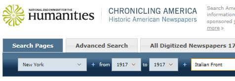 Using the Library of Congress online archives