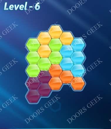 Block! Hexa Puzzle [Intermediate] Level 6 Solution, Cheats, Walkthrough for android, iphone, ipad, ipod