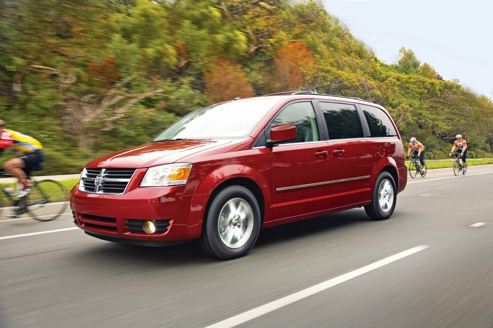 Car repeating: Dodge Caravan, red ? California coastal trip  #agsoc2014