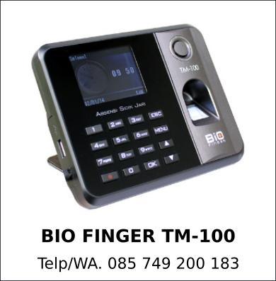 Distributor Bio Finger TM-100 Murah