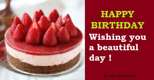 Strawberries Cake Happy Birthday Cards