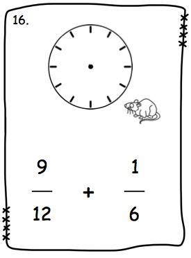 love2learn2day: Fraction Addition Made Easy: Clocks!