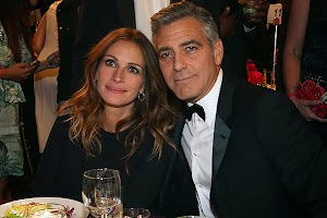 BAFTA LA 2013: George Clooney's award was presented by his longtime friend Julia Roberts.