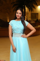 Pujita Ponnada in transparent sky blue dress at Darshakudu pre release ~  Exclusive Celebrities Galleries 022.JPG