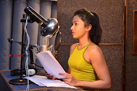 Actress Catherine Tresa Pos during Self Dubbing for Gautham Nanda Movie  0043.JPG
