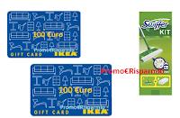 Logo IKEA ''Con Swiffer puoi vincere una carta regalo da spendere in un negozio d'arredamento'': 30 Card da 100€