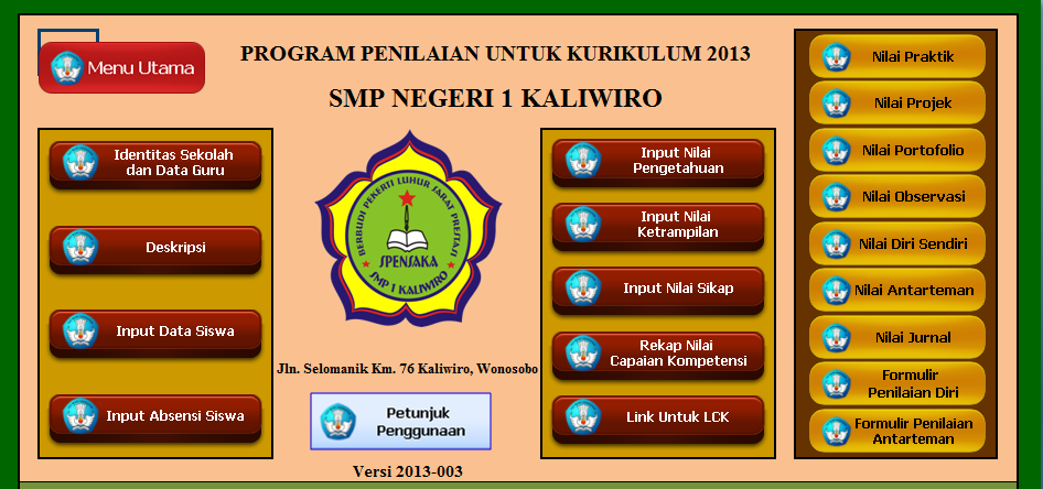 Download File Aplikasi K13 Untuk Smp Mts Galeri Guru Ops Sekolah Dasar