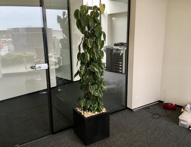 Grote design plantenbakken op poten of potten in metaal hout cortenstaal kunststof plastic pvc steen beton urban riet bohemian jungle