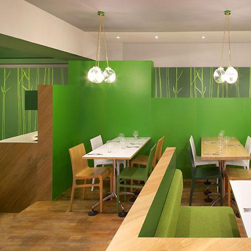 Elegant Interior Design Bar: In Design Magz: COZY ELEGANT GREEN RESTAURANT INTERIOR DESIGN