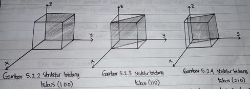 struktur bidang kubus