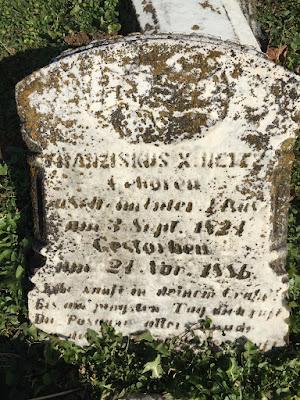Francizkus (Frank) Xavier Heitz (Haitz); Maplewood Cemetery, Ripley, Ohio