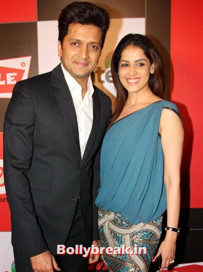 Ritesh Deshmukh and Genelia D'Souza, Hot Celebs Grace the Celebrity Cricket League 4 Press Meet