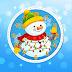 Cute Christmas Snowman Clock