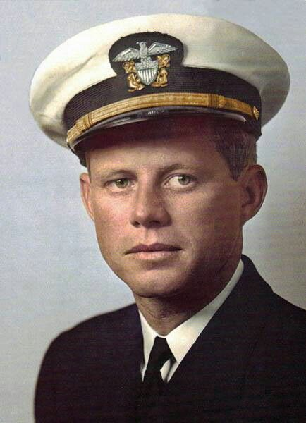 John F. Kennedy JFK color photos of World War II worldwartwo.filminspector.com