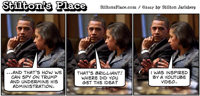stilton's place, stilton, political, humor, conservative, cartoons, jokes, hope n' change, susan rice, spying, trump, obama, surveillance, benghazi, youtube, video