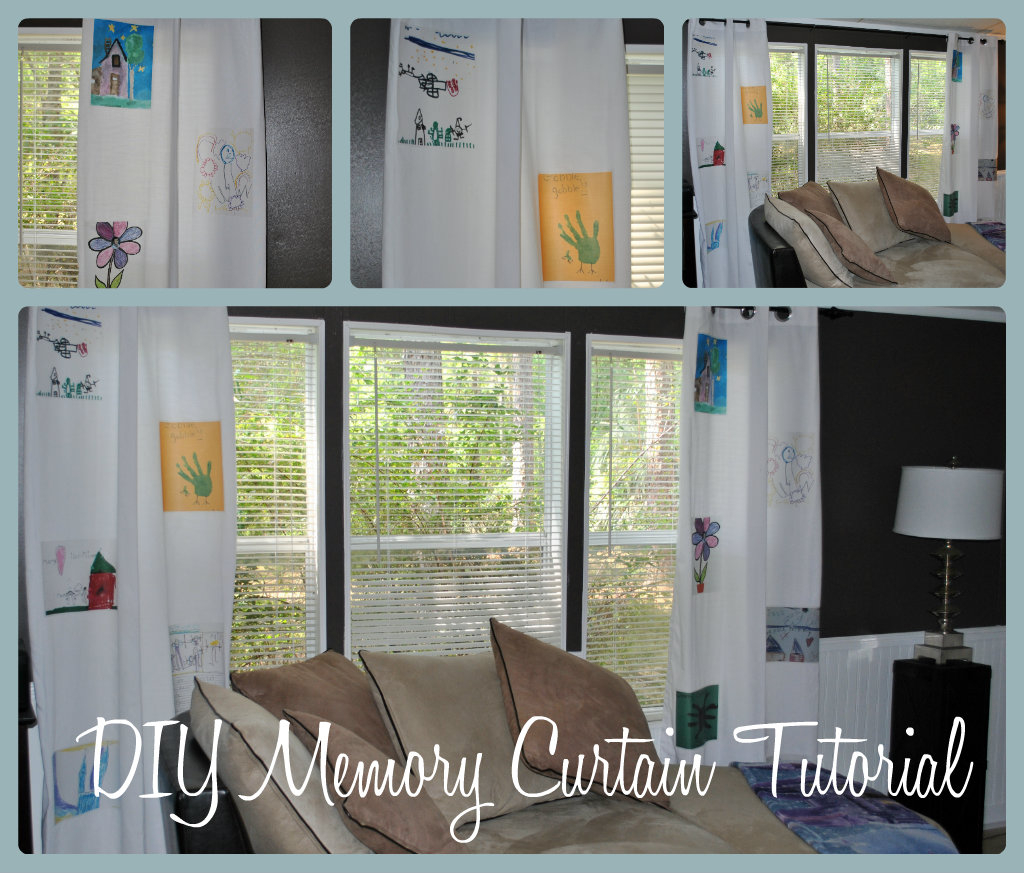 Life With 4 Boys: DIY Memory Curtain Tutorial