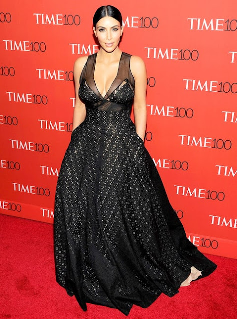 CELEBRITY STYLE TRANSFORMATION Kim Kardashian in Sophie Theallet at Time 100 gala