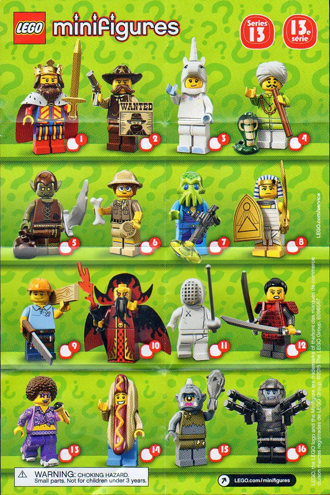 Lego minifigure series 1 16 lego movie simpson disney checklists