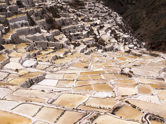 Salt ponds at Salineras de Maras near Ollantaytambo Peru