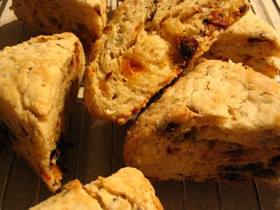 Sun-Dried Tomato and Basil Scones