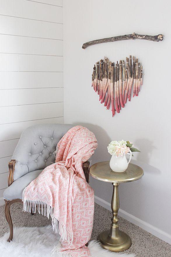 Dia dos namorados 2019 coração deito de gravetos decoração