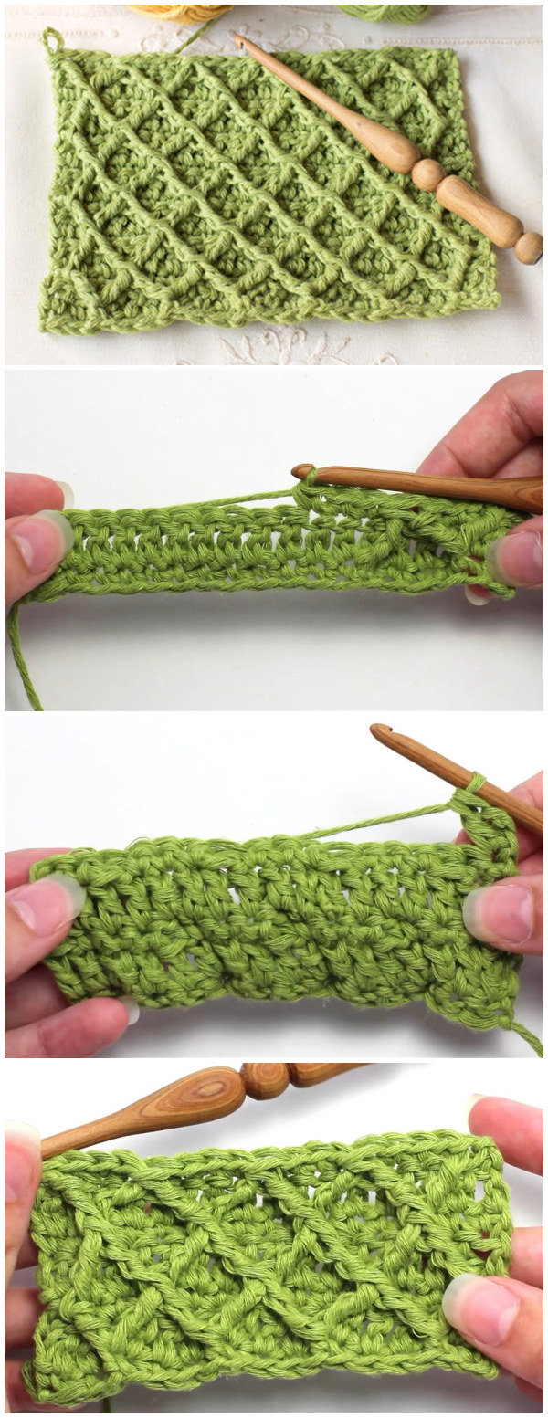 Crochet The Diamond Stitch