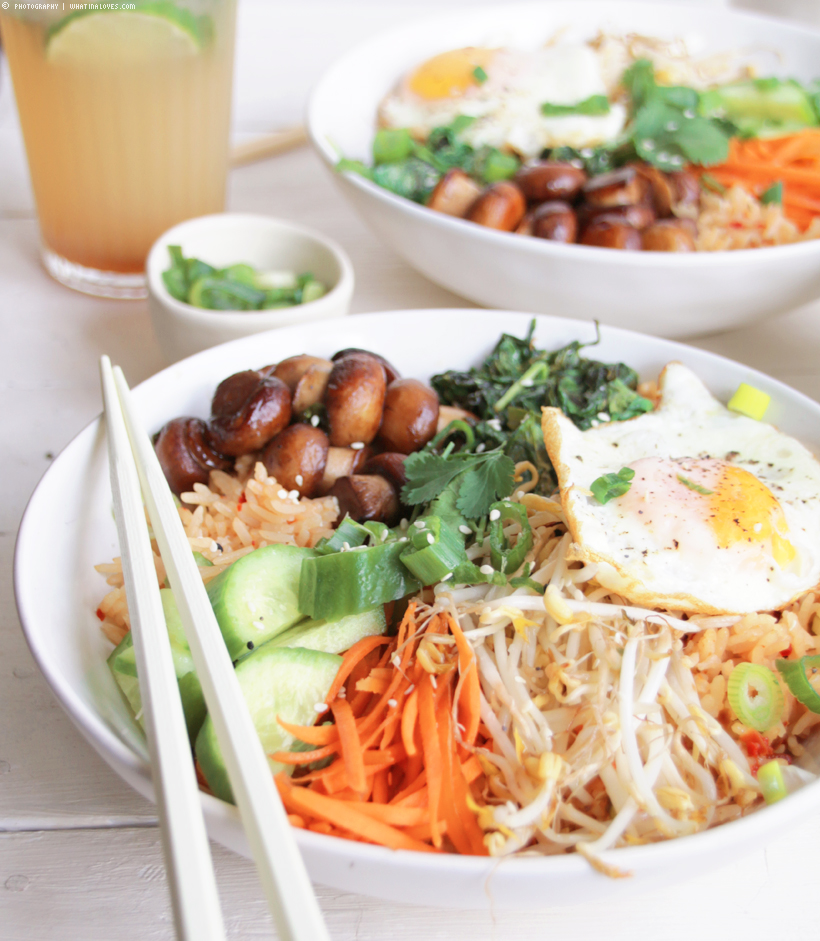 vegetarisches Koreanisches Bibimbap | whatinaloves.com
