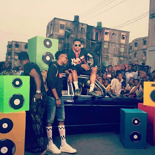 "Efe And Olamide Takes The Video Shoot For ""Warri' Back To The Streets"