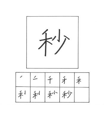 kanji detik