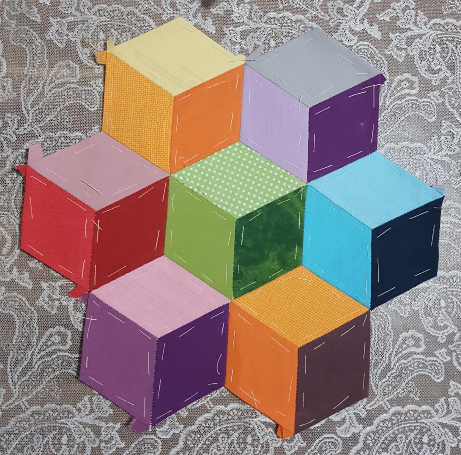 Thumbling blocks quilt pattern