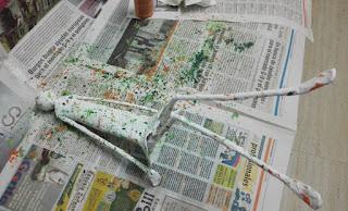 cómo hacer figura papel maché