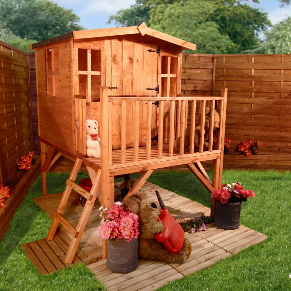Diy girls and boys playhouse designs for backyard bahay ofw for Play yard plans