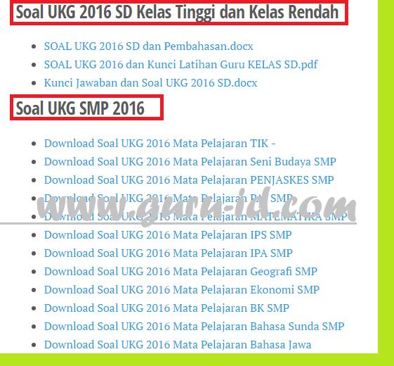 gambar Latihan Soal UKG Terbaru 2017 Untuk SD, SMP, SMA/SMK Dilengkapi Pembahasan dan Kunci Jawaban