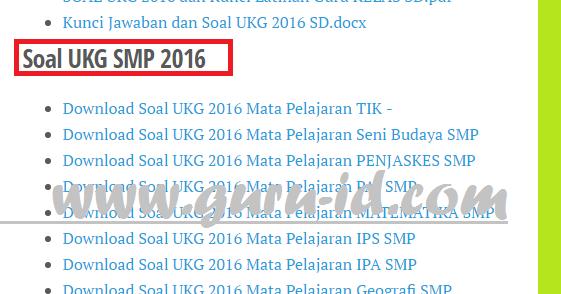 Latihan Soal Ukg Atau Utn 2017 Untuk Sd Smp Sma Smk Dilengkapi Pembahasan Dan Kunci Jawaban