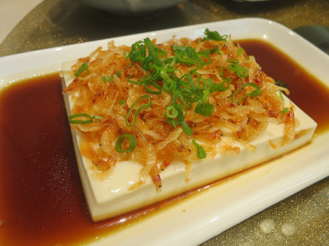 Dried Sakura Shrimps with Scallion Oil Tofu