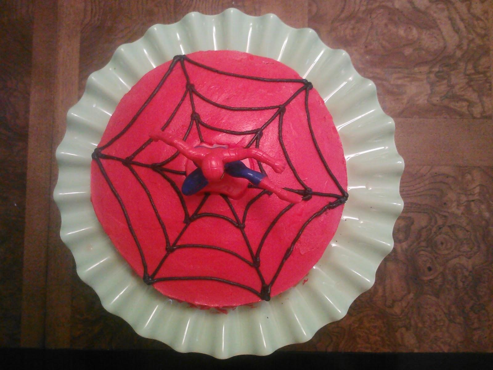 Easy Homemade Spiderman Cakes