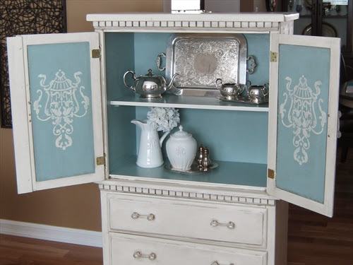 Small Vintage Bedroom Armoire Makeover