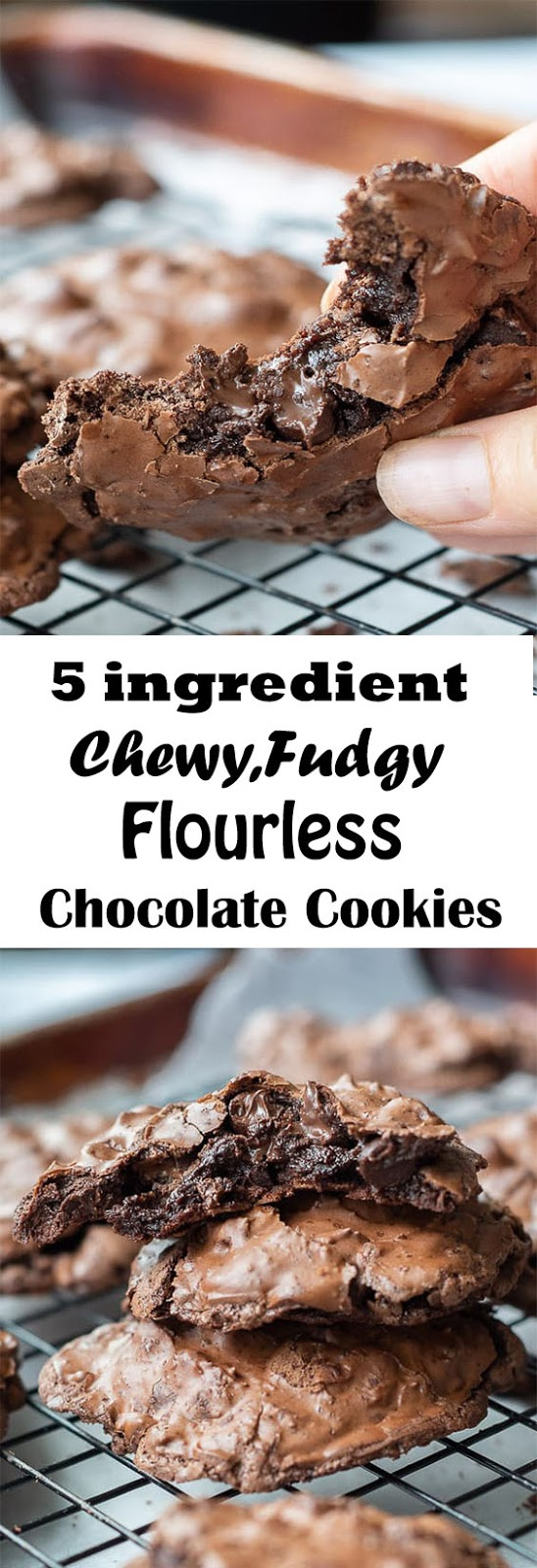 Chewy,Fudgy Flourless Chocolate Cookies