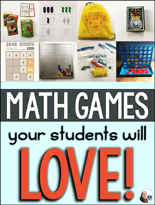 Looking for math games that your middle school students will love? This growing list of math games for kids includes some free online math games, some pdf printables, and some math games that are new to me! Math games include, Set. KenKen, Connect 4, Blitz Champz, Blokus, Sum of Which, Can You Make It?, Prime Climb, 4 Numbers, 2048 and Mobi Math.