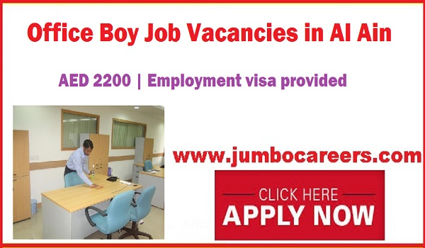 Al Ain Jobs with Salary, Office boy jobs in UAE,