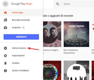 Upload musica Google Play Music