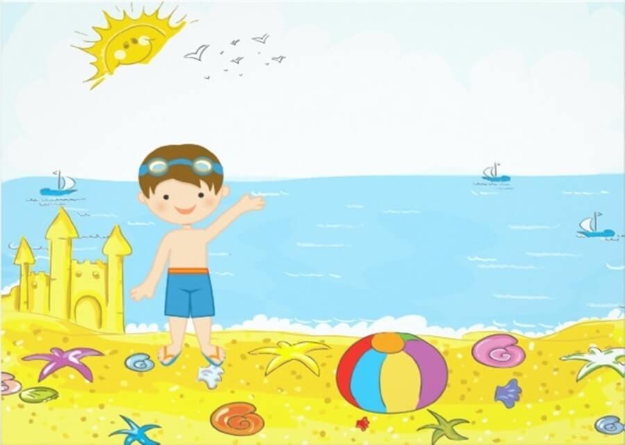 Festa de aniversário tema praia