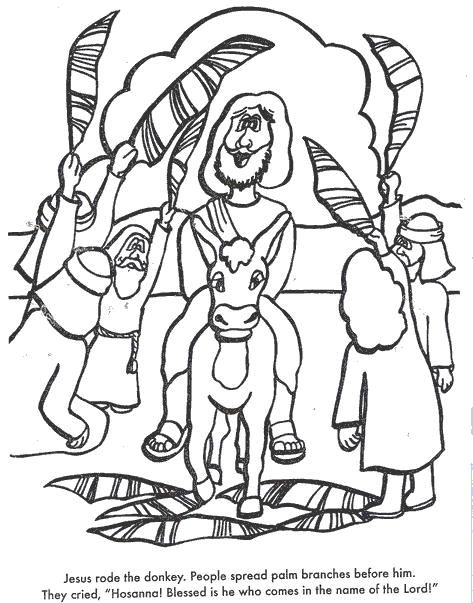 Palm Sunday Coloring Pages Toddlers Kids Print