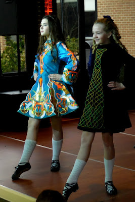 Irish dancers at reception