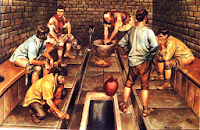 How ancient Romans cleans after use Toilet?