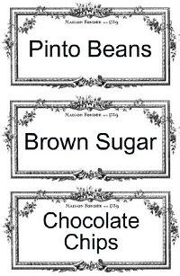 Image: Free Printable Pantry/Storage Labels from StrangersandPilgrimsonEarth.com