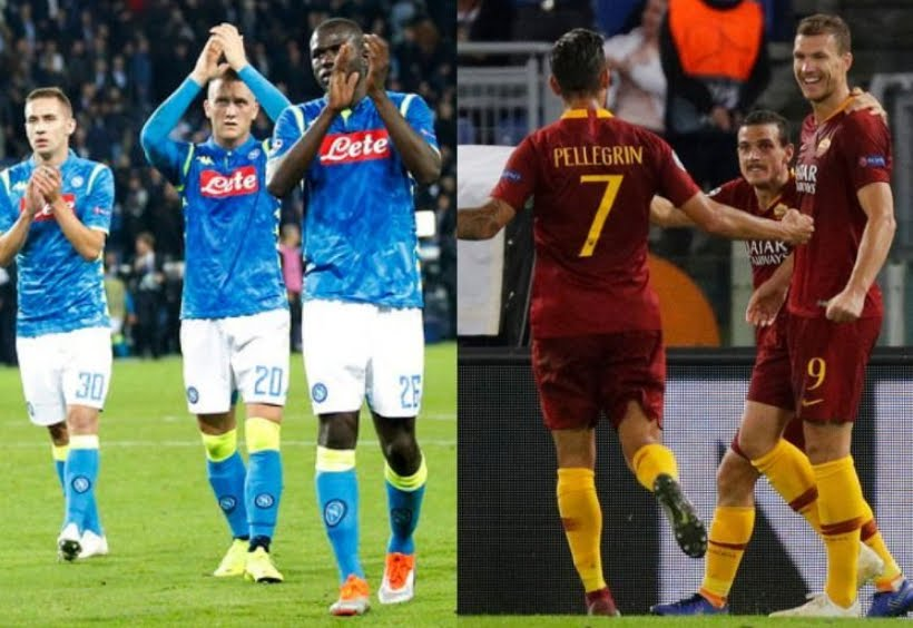 Vedere Derby Roma Napoli streaming Rojadirecta.